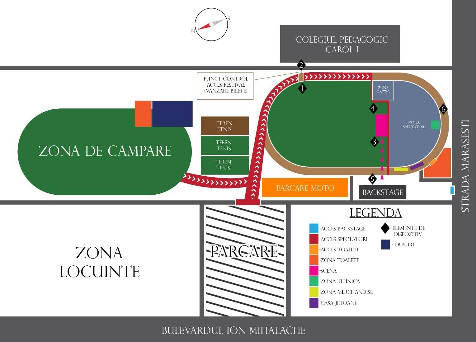 configurația zonei de festival